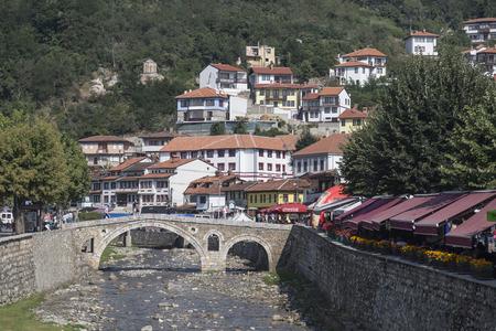 Old stone bridge in Prizren over Bistrica river