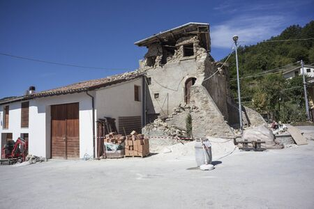 Amateur 8292016 - Old tower in Accumoli destroyed by earthquake Sajtókép