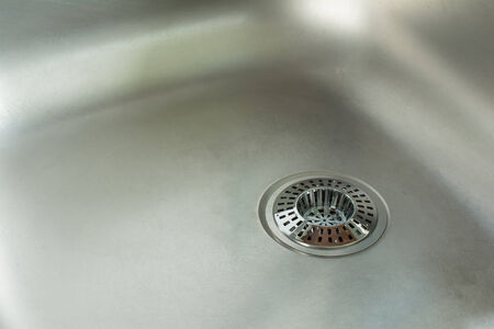 sink drain: Sink With Chrome Drain Strainer  Sink Strainer