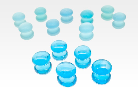 fainted: Collection Of Blue Glass Jewels Stock Photo