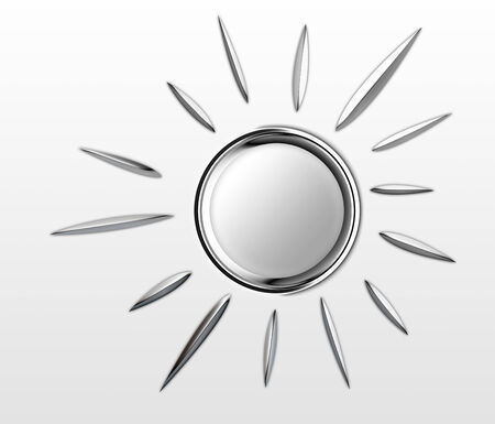 chrome: A Chrome Sun Is Shining Stock Photo