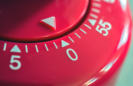 precisely: Macro Of A Kitchen Egg Timer - 0 Minutes - 1 hour