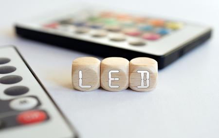 remotes: 2 LED Remotes With LED-Cube Acronym
