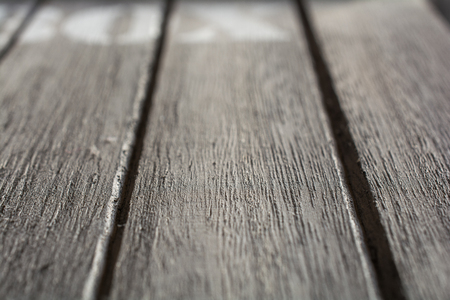 Macro Of Some Wood Panels With BOX Logo In The Background