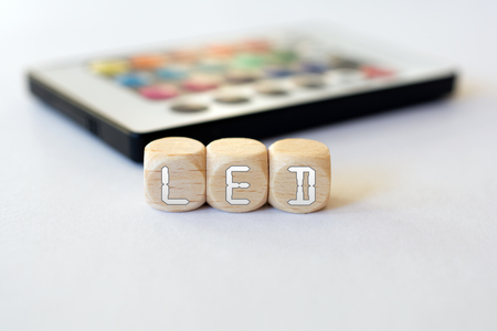 LED Remote With LED-Cube Acronym 版權商用圖片
