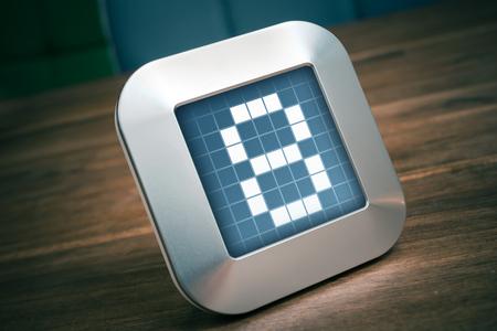The Number 8 On A Digital Calendar,  Timer