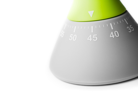 45 Minutes - Three-Quarters Of An Hour - Macro Of An Analog Kitchen Timer