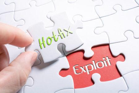 The Words Hotfix And Exploit In Missing Piece Jigsaw Puzzle