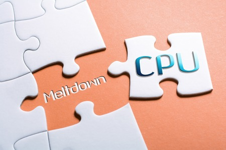 The Words CPU And Meltdown In Missing Piece Jigsaw Puzzle