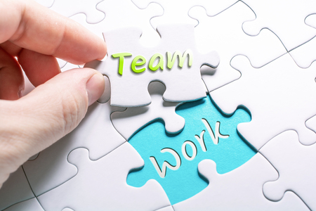 The Words Team And Work In Missing Piece Jigsaw Puzzle