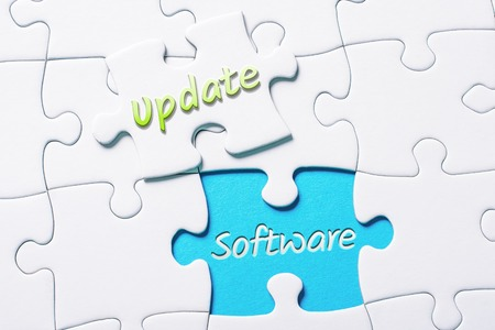The Words Update And Software In Missing Piece Jigsaw Puzzle