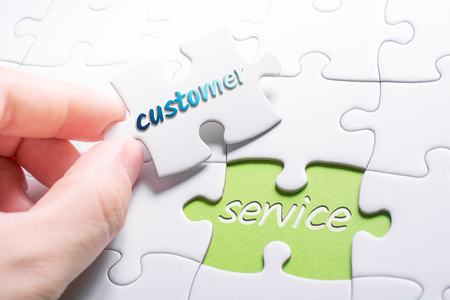 The Words Customer And Service In Missing Piece Jigsaw Puzzle
