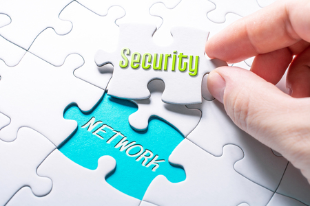 The Words Security And Network In Missing Piece Jigsaw Puzzle