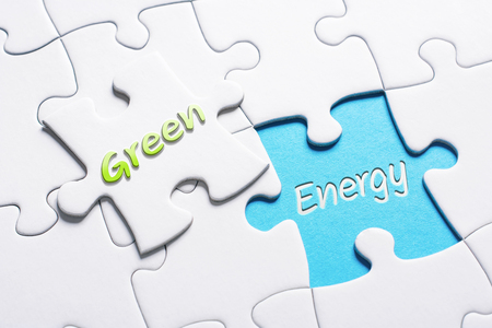 The Words Green And Energy In Missing Piece Jigsaw Puzzle