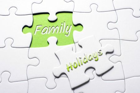 The Words Holidays And Family In Missing Piece Jigsaw Puzzle