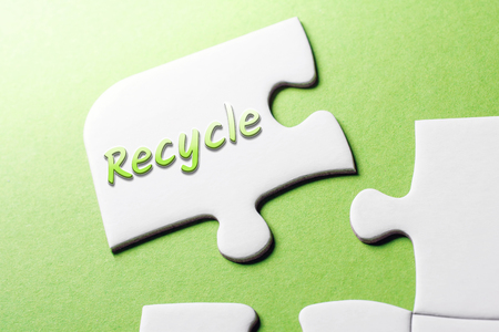 The Word Recycle In Missing Piece Jigsaw Puzzle