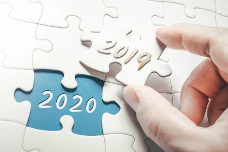 The Years 2019 And 2020 In Missing Piece Jigsaw Puzzle