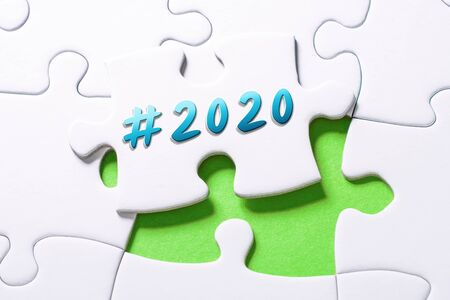 The Year 2020 With Hashtag In Missing Piece Jigsaw Puzzle