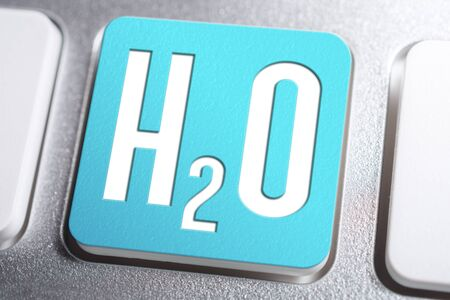 H2O Chemical Formula For Water On A Keyboard Button