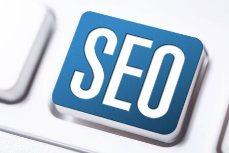 SEO Search Engine Optimization Button On A White Keyboard