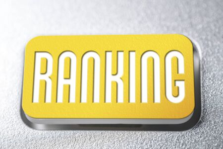 Yellow Ranking Button On A Keyboard, Rating Analyse Concept