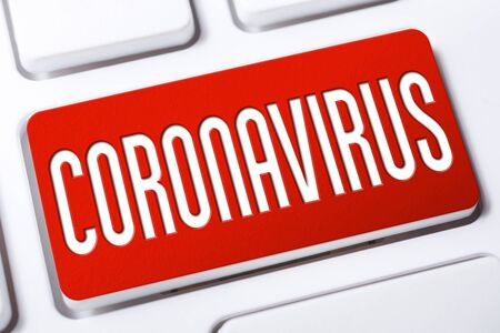 The Word Coronavirus On A Red Keyboard Button