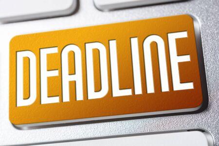 Orange Deadline Keyboard Button As A Reminder Concept