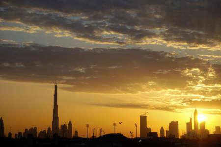 dubai city: Burg Dubai sunset.