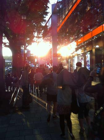 harajuku: Walking on Harajuku street