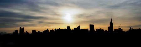 day and night: Good morning New York City Stock Photo