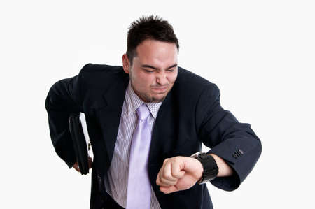 discontented: Frustrated businessman