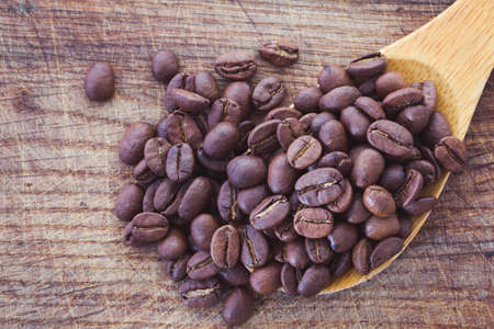 cofe: coffee beans on a table Stock Photo