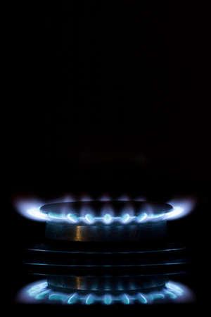 gas burners lit Фото со стока