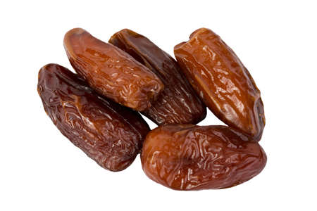 calory: dates on a white background