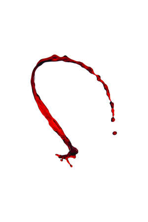 quencher: splash of red wine on a white background
