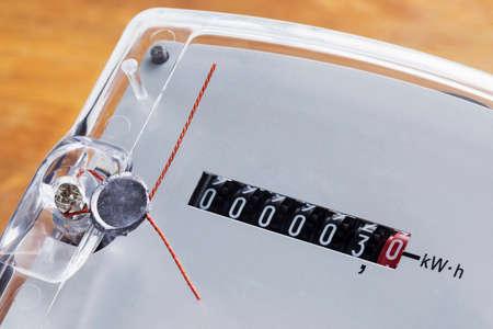 electric meter: Los precintos de seguridad en el un medidor de electricidad
