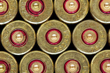 casings: a handful of the used shell casings