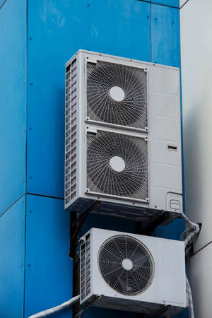 supercharger: the air conditioning system installed in a building