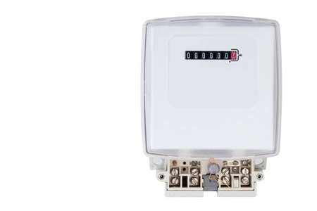 electrics: the electric meter on a white background