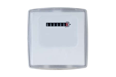 electric meter: the electric meter on a white background