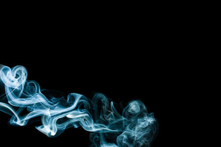 wavy blue smoke on a black background