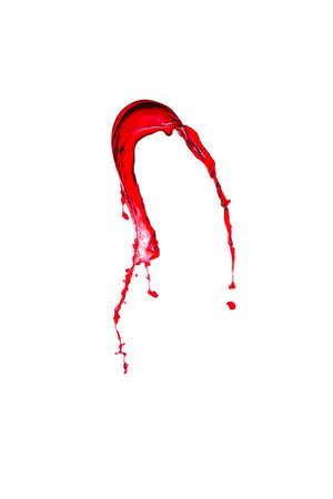 white wine: splash of red wine on a white background