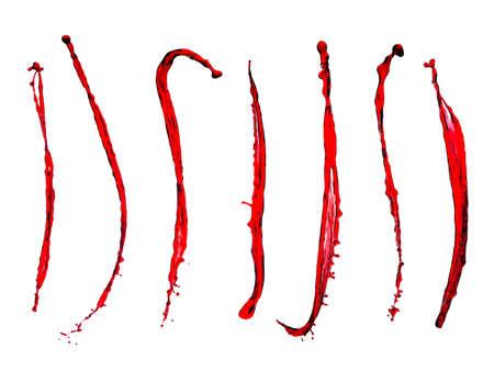 viscosity: Splash of red wine on a white background