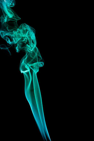 wavy green smoke on a black background