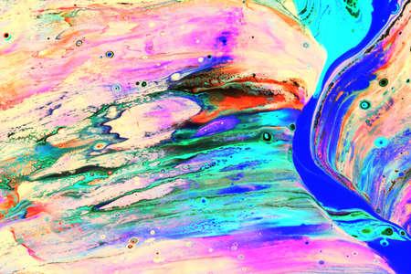 Abstraktes Bild eines grünen Aquamarins und einer blauen Farbe