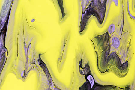 Abstract background of acrylic paint in Violet and yellow tone Imagens