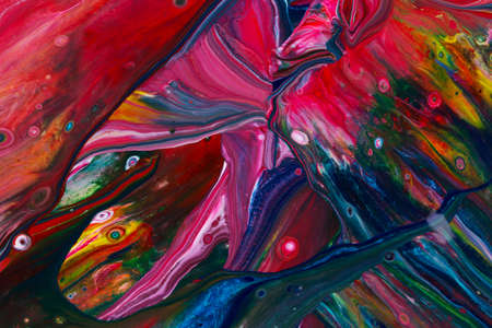 Abstract background of acrylic paint in color tones