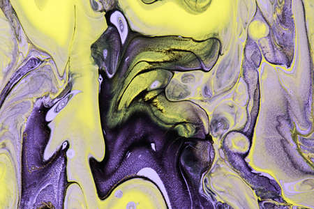 Abstract background of acrylic paint in Violet and yellow tone Stok Fotoğraf