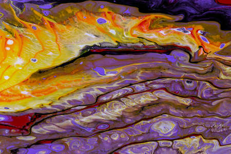 Abstract background of acrylic paints in color tones