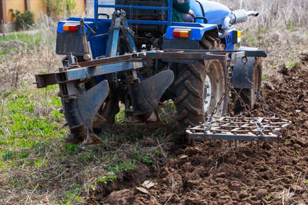 Process of plowing land in the spring
